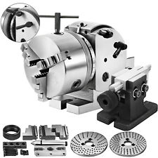 Bs 0 5 Indexing Spiral Dividing Head 3 Jaw Chuck Tailstock For Cnc Milling