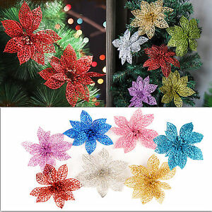 image is loading glitter hollow wedding party decor christmas flowers red