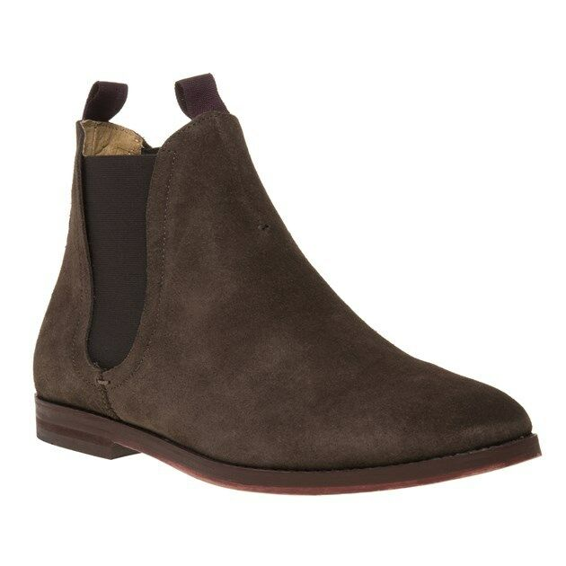 New Hombre H by Hudson Marrón Tamper Suede On botas Chelsea Elasticated Pull On Suede f8e6d6