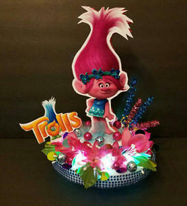 Trolls Inspired Princess POPPY Cake Topper Centerpiece