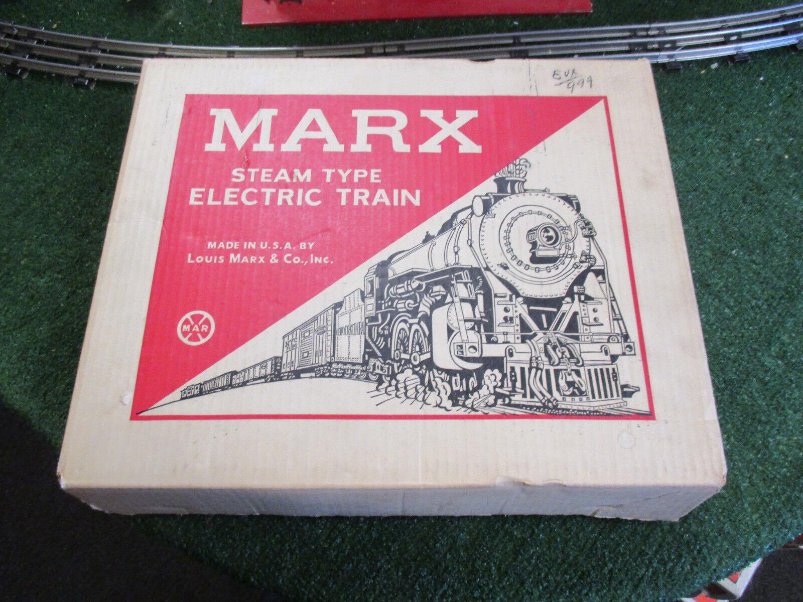 MARX 4040 4040 4040 STEAM TYPE ELECTRIC TRAIN SET WITH ORIGINAL BOX EXCELLENT CONDITION e17801