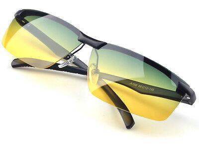 Aluminum Magnesium Polarized Goggles Day & Night vision Driving Glasses Men New