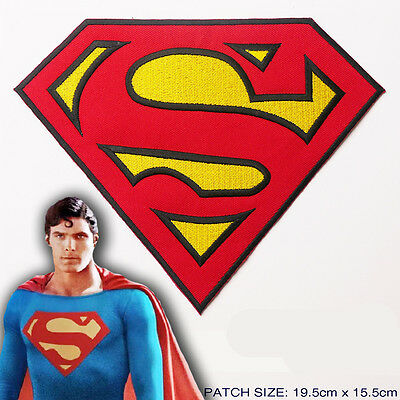 "SUPERMAN ""S"" Quality GIANT SIZE Superhero Costume Logo - Iron-On Costume Patch!"