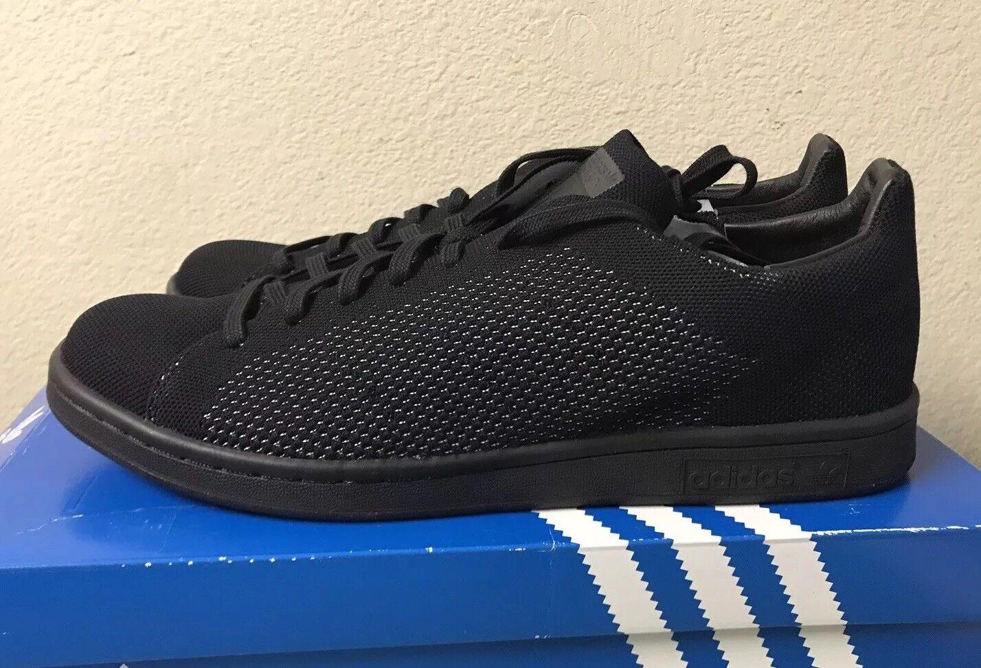 Adidas Stan Smith PK Primeknit Triple Black Mens Sz 10 Sneakers S80065 NEW