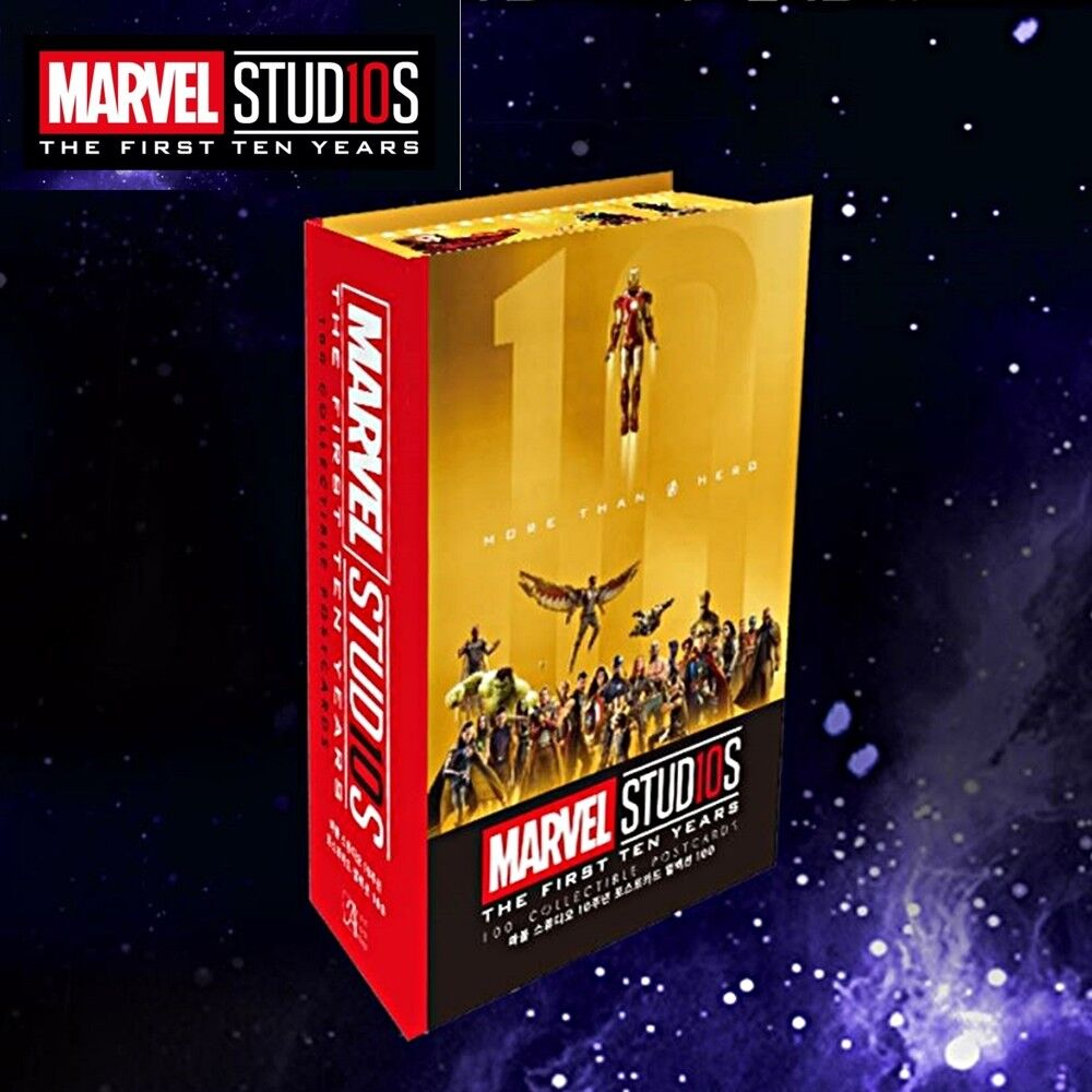 Marvel Studios MCU The First 10th Years Anniversary 100 Collectible Postcards