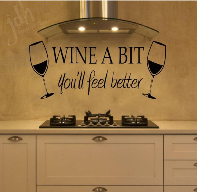 Decal The Walls Wine Over A Bottle Wall Decal For Sale Online Ebay