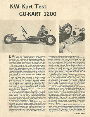 Vintage 1960/'s Karting World Blitz Kart Go-Kart Test