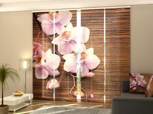 Fotogardine schöne Orchidee Schiebevorhang Schiebegardine Fotodruck auf Maß
