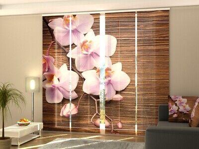 Fotogardine Orchidee Wassertropfen Vorhang mit Foto Gardine Fotodruck auf Maß