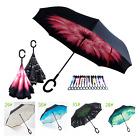 Upside Down C-Handle Big Double Layer Reverse Inverted Windproof Umbrella Design