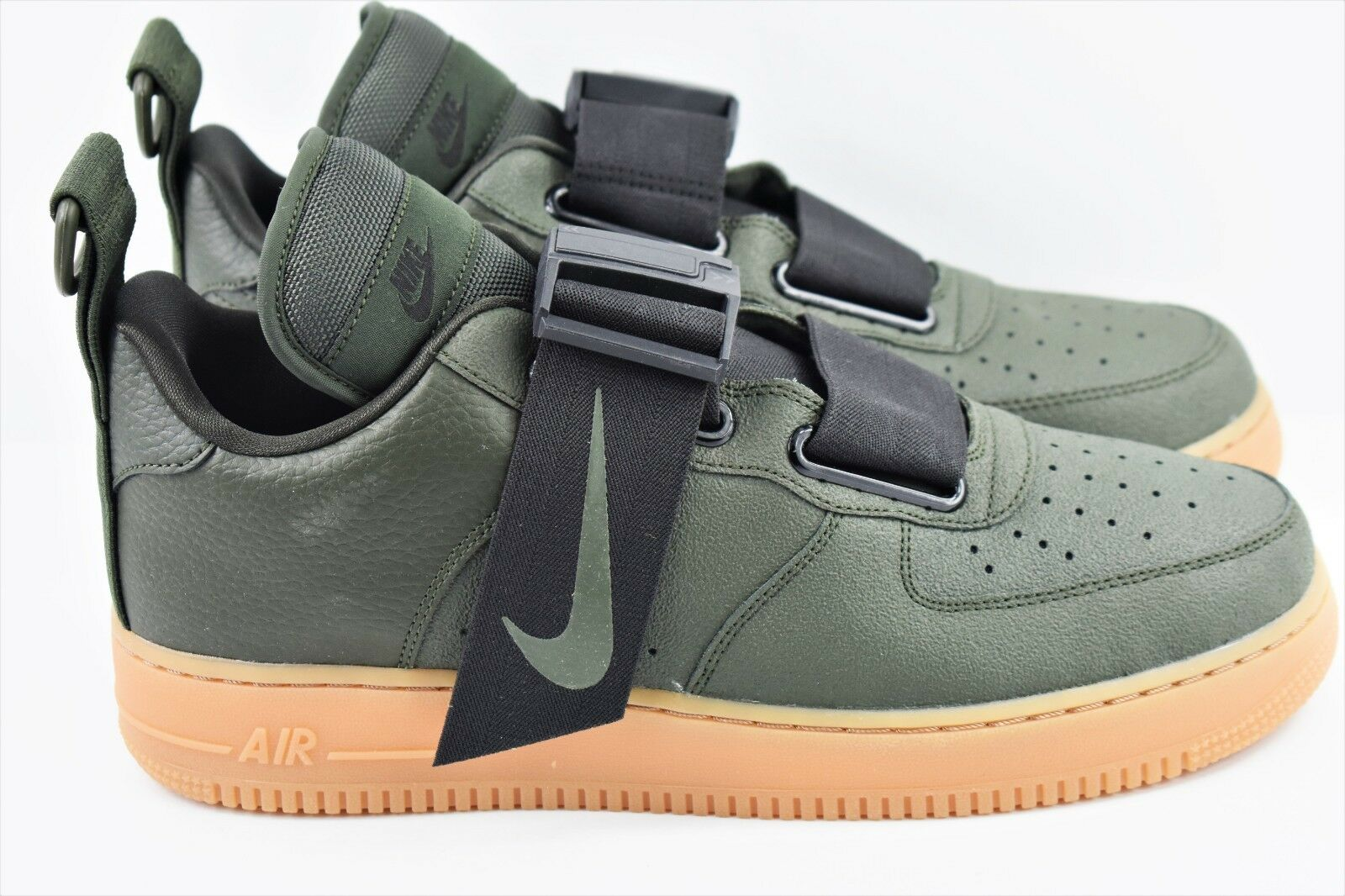 Nike Air Force 1 Utility Mens Size 9 shoes Khaki Green Gum AO1531 300 AF1