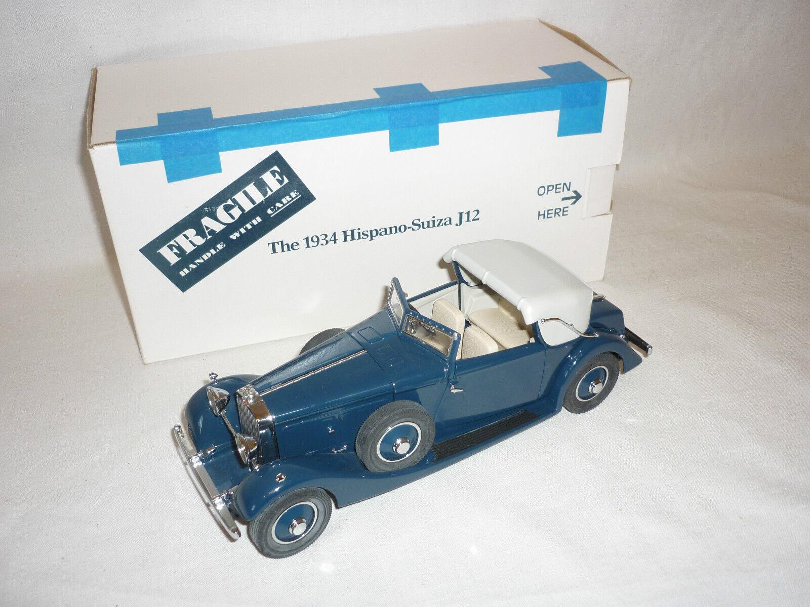 edición limitada Un coche modelo escala DE DANBURY MINT DE UN 1934 1934 1934 hispano suitza J12, En Caja  venderse como panqueques