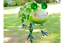 miniatura 1 - METAL-GREEN-FROG-TOAD-ON-A-STAKE-GARDEN-ORNAMENT-HANGING-LEGS-FLOWERS-UK-SELLER