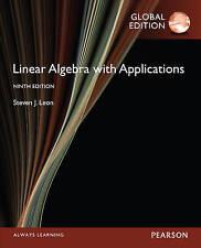 Linear Algebra with Applications 9E by Steven J. Leon (Paperback, 2015)