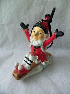Chicago Blackhawks Santa Elf on Sled Christmas Ornament ...