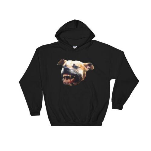 HOODY SWEATSHIRT DOGS PITBULL PITBULLS PIT BULL BARKING DOG BLACK HOODIE