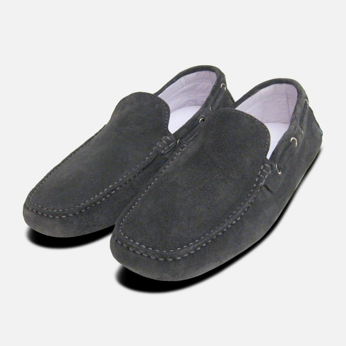 Mid Grey Suede Driving shoes Loafers