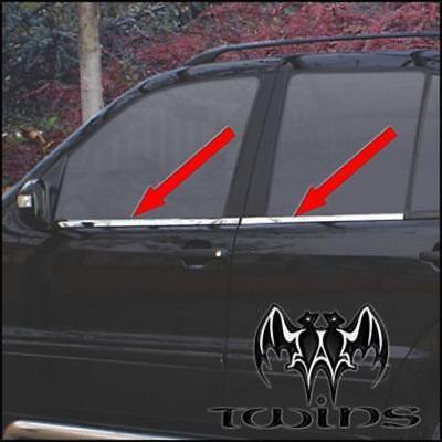 Strisce cromate sotto finestrini Mercedes ML W163 Profili Cromati Finestrini M