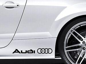 Sticker for AUDI Rings Car Aufkleber Sticker TT RS S A3 A4 A5 A6 A8 Q5 Q7