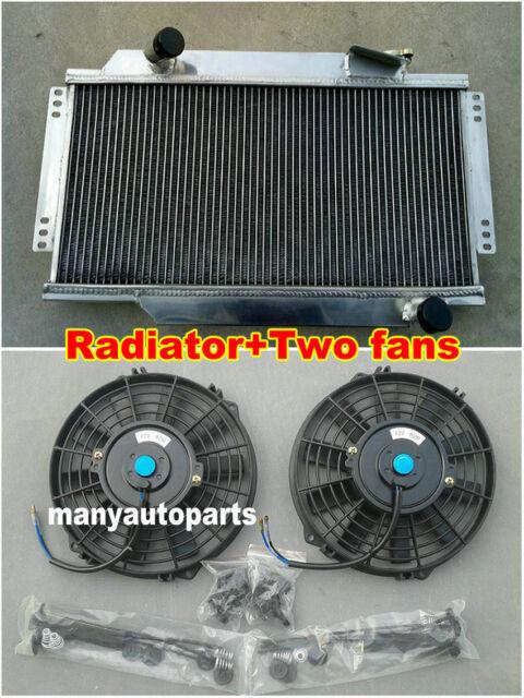 2 ROW ALUMINUM RADIATOR + Fans 1964-1978 FOR TRIUMPH SPITFIRE MARK III/IV/1500