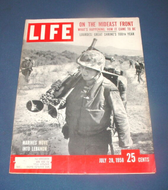 LIFE MAGAZINE JULY 28 1958 PRINCESS MARGARET US MARINES IN LEBABON