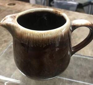 Vintage McCoy Pottery Brown Drip Glazed Creamer USA Original Piece