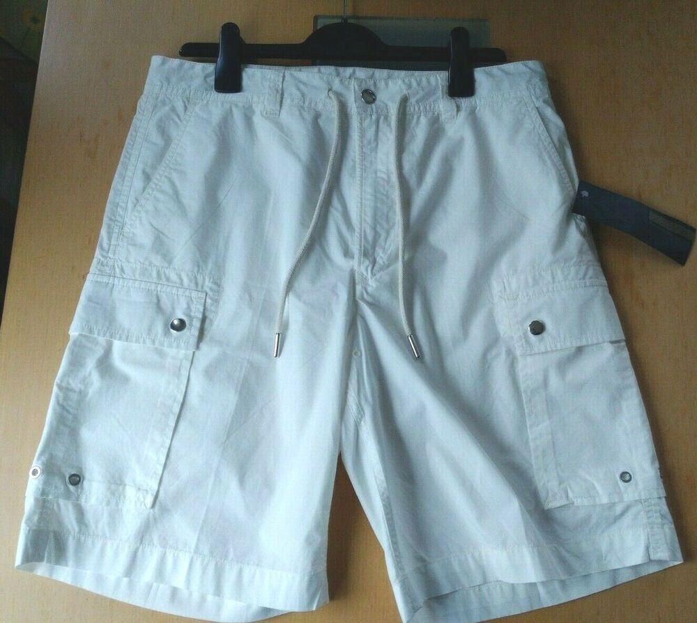 Diesel Black Gold-cargo Coton Shorts-couleur Blanc-rrp £ 205.00