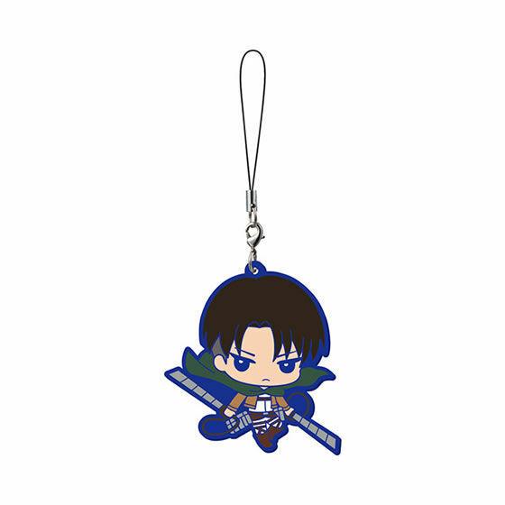 Bandai Attack on Titan Shingeki no Kyojin Capsule Rubber Phone Strap Figure