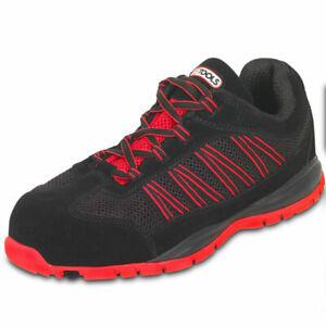 Détails sur Chaussures de sécurité KSTOOLS Couleur noire rouge taille 45