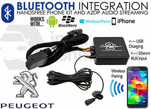 Kit bluetooth voiture 207
