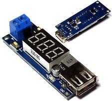 DC 4.5-40V To 5V 2A USB Charger DC-DC Step-down Buck Converter Voltmeter Module