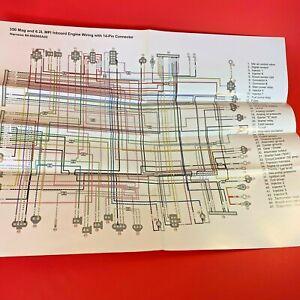 MerCruiser 350 Mag 6.2L MPI Inboard Engine Wiring 14 Pin Con Diagram  90-866969 | eBayeBay