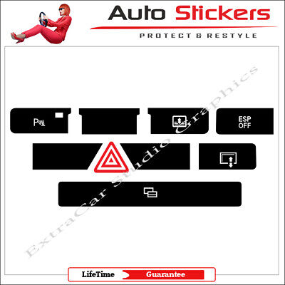 for Audi A8 Central Lock Door Sickers Decals Repair Worn Button Switch Knob Kit