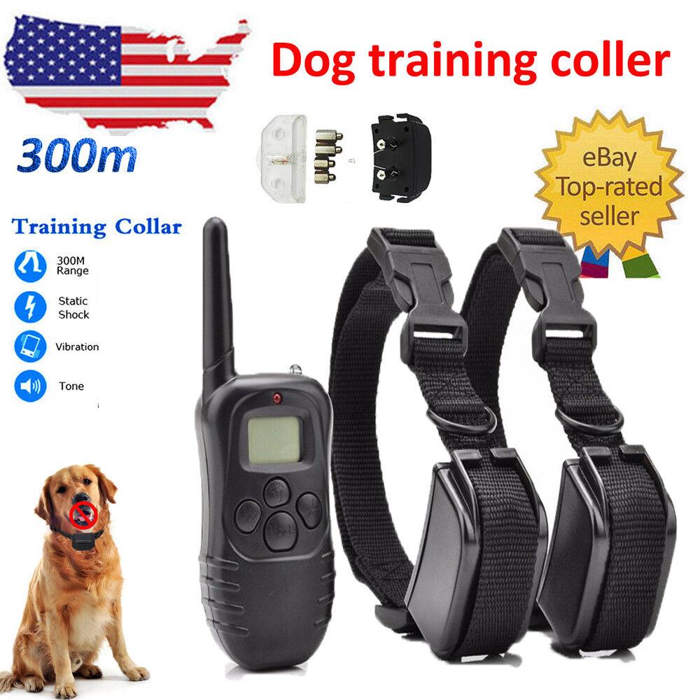 Electric Anti Bark Pet Dog No Barking Training Shock Collar With Remote Control