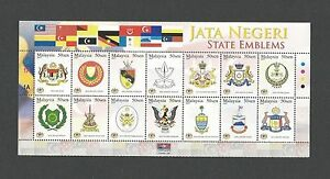 Malaysia-2007-State-Emblems-14v-Mint