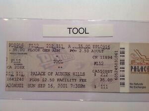 TOOL-full-concert-ticket-main-floor-MICHIGAN-2001-FREE-SHIPPING