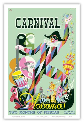 1948 Carnival Havana Cuba Fiesta Vintage World Travel Art Poster Print