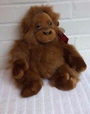 Russ Bongo Stuffed Animal Plush NWT Monkey Toy Brown                       (A15)