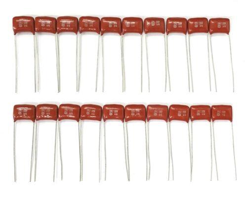 Lot of 20 NEW 0.1uF 100V Metallized Polypropylene Film Capacitors 100nF 5/%