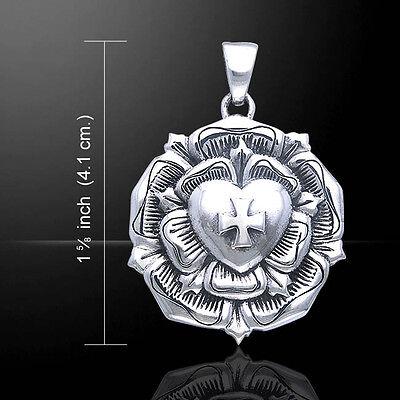 Brigid Ashwood Heilige Rose Halskette .925 Sterlingsilber By Peter Stone Schmuck