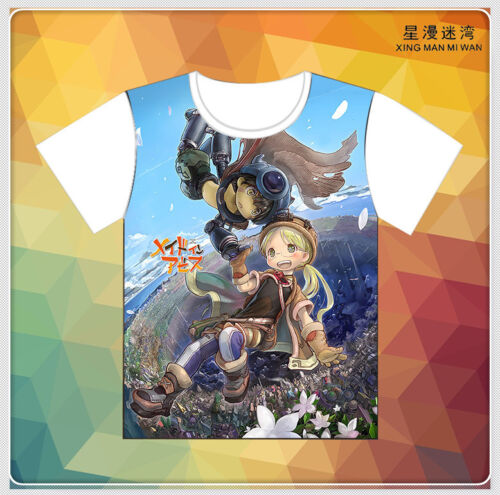 Cosplay Anime Made in Abyss Casual Unisex White Short Sleeve T-Shirt Tops S-3XL