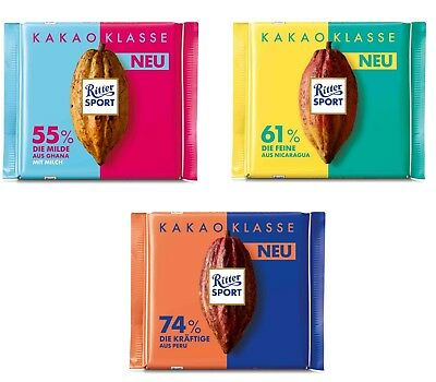 Ritter Sport Cocoa Class 55 61 Or 74 Cocoa Quantity New Variety From Germany Ebay