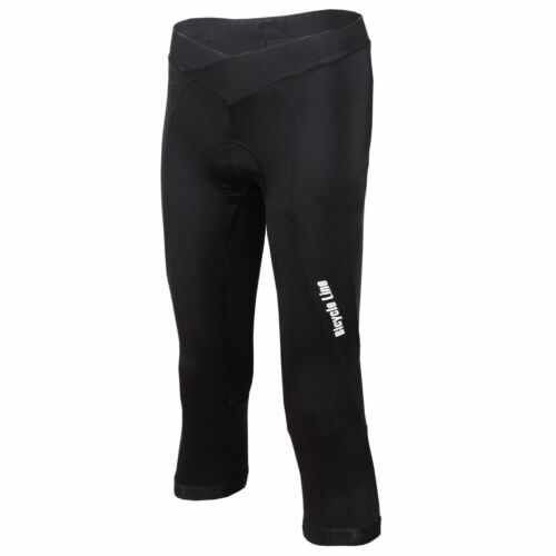 Bicycle Line Women/'s Padded Cycling Knicker 3//4 length Biking Black