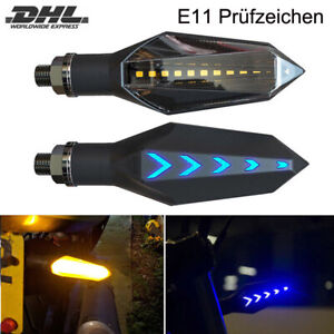 2x led motorrad mini blinker 12v sequentiell lauflicht e11 pr fzeichen t v ebay. Black Bedroom Furniture Sets. Home Design Ideas