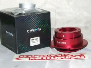 Part # SRK-250RD Red Gen 2.5 NRG Steering Wheel Quick Release Kit