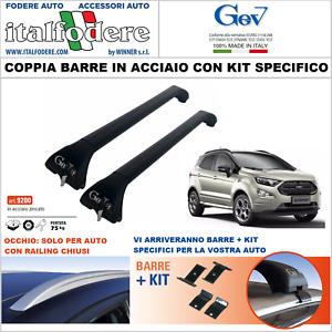 BARRE DA TETTO FORD ECOSPORT Portatutto Portapacchi GEV 9200+9267 Acciaio