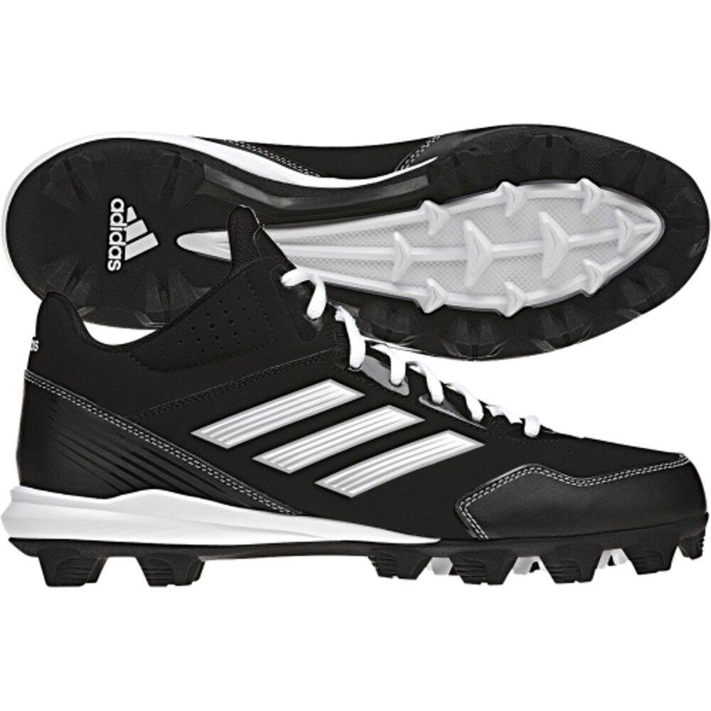 9b1040857fc Nuovo Adidas Adidas Adidas Passaruota Md Mid Baseball Tacchetti Nero Bianco  - a71ec3