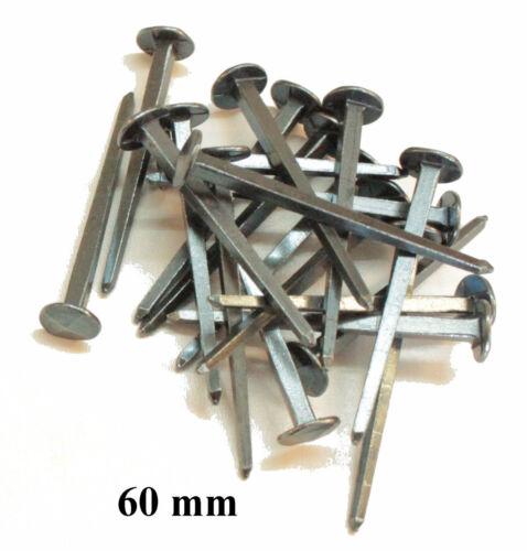 20 geschmiedete Nägel 30mm,50mm oder 60mm Schmiedenägel gebläut Eisen
