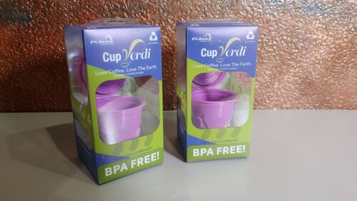 Details about  /Refillable Reusable Coffee Filters K-Cups Cup Verdi BPA Free Set of 2
