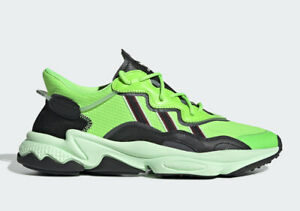 Details about Adidas Originals Men's OZWEEGO NEON GREEN Shoes Solar GreenBlack EE7008 d